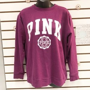 PINK Victoria's Secret Purple Logo Sweatshirt